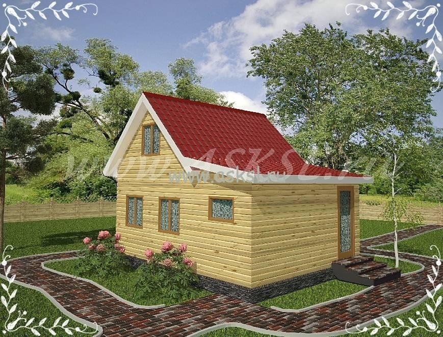 Фото каркасно-щитового дома ДД 6х5 В
