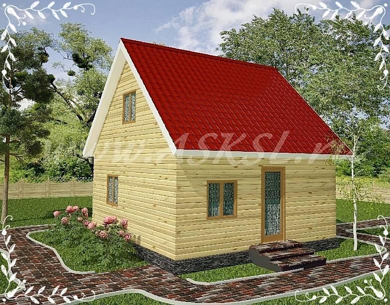 Фото каркасно-щитового дома ДД 6х6