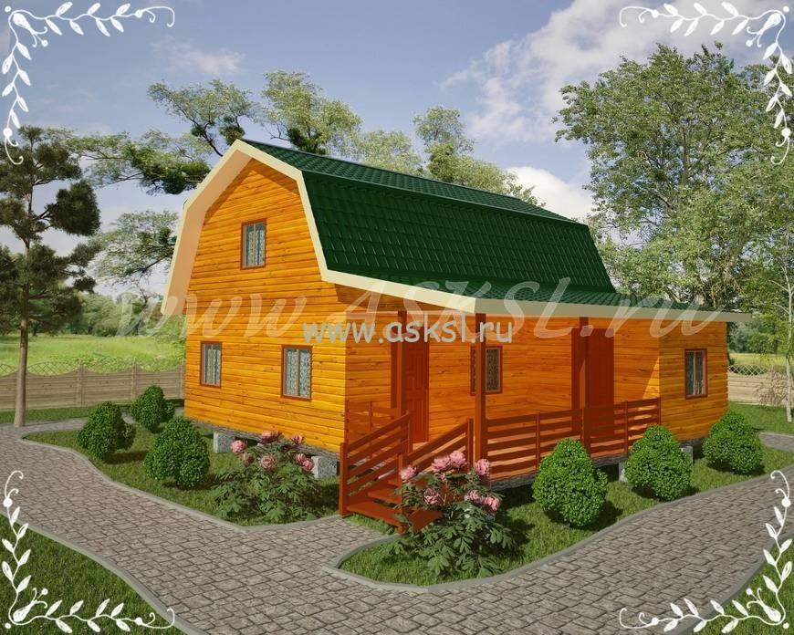Фото каркасно-щитового дома ДД 8х9