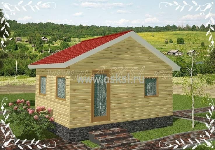 Фото каркасно-щитового дома ОД 4х6
