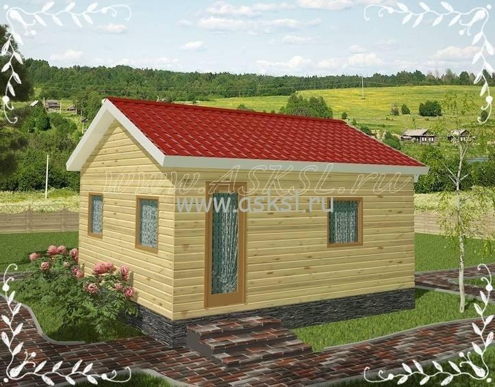 Фото каркасно-щитового дома ОД 5х6 В