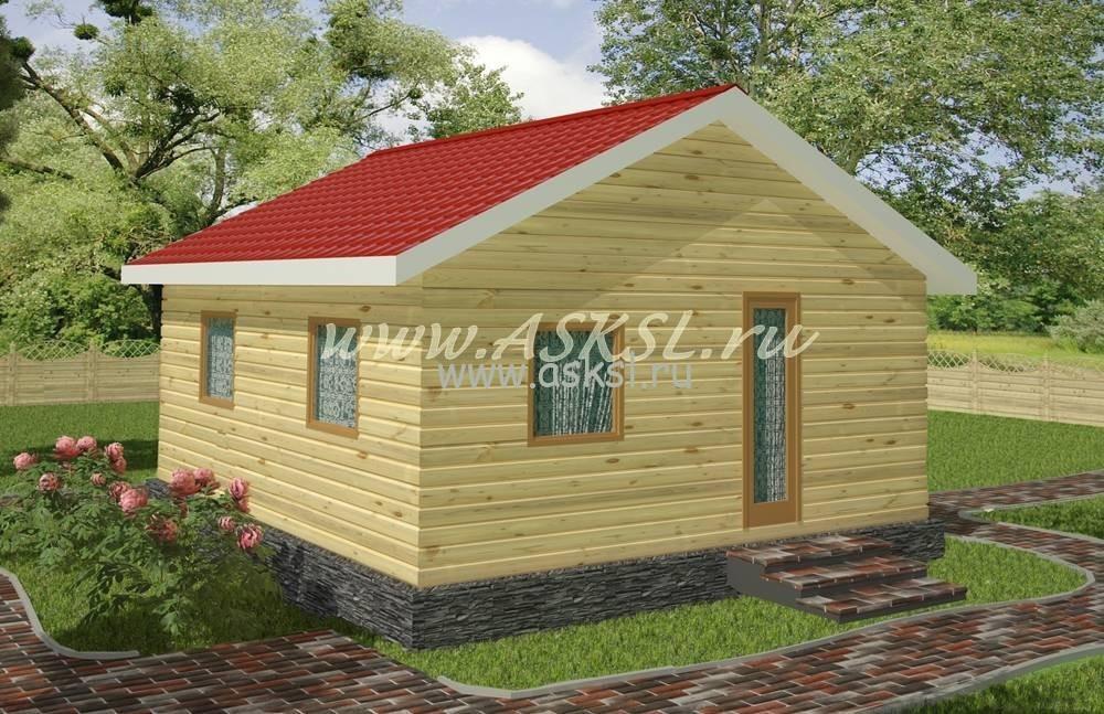 Фото каркасно-щитового дома ОД 6х6