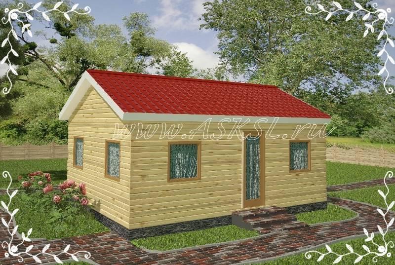 Фото каркасно-щитового дома ОД 5х7