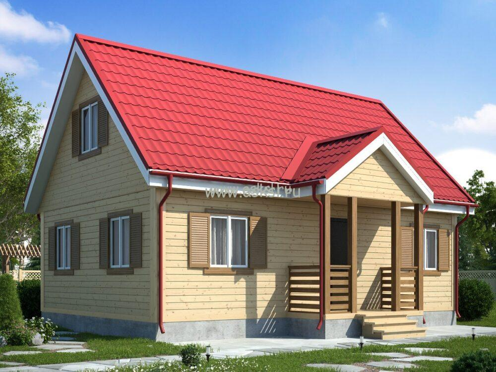 Фото каркасно-щитового дома ДД 6х9 К2