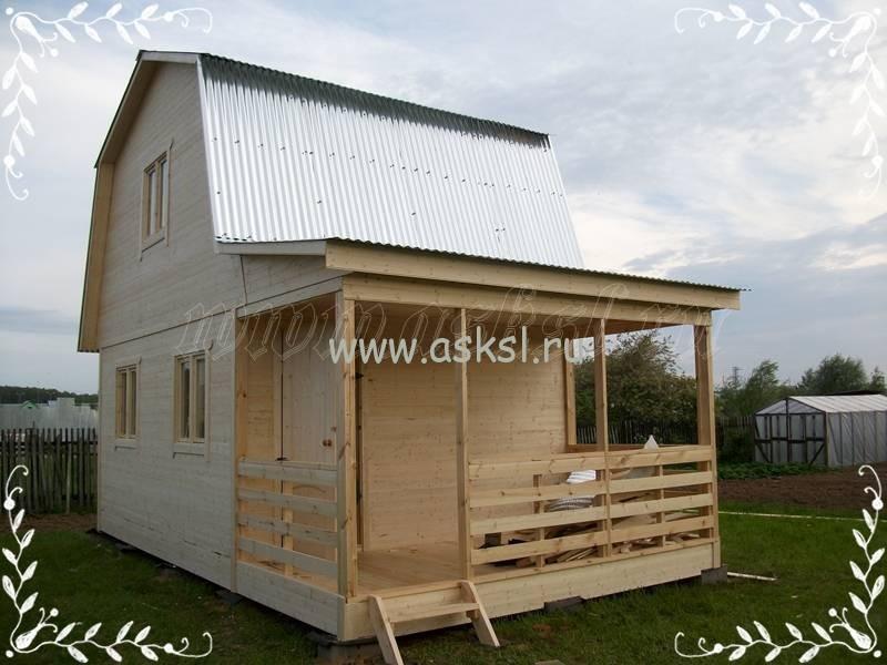 Фото каркасно-щитового дома ДД 4х7