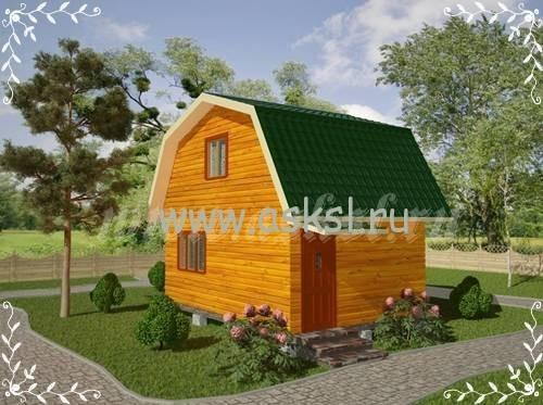 Фото каркасно-щитового дома ДД 4х6 ЛК