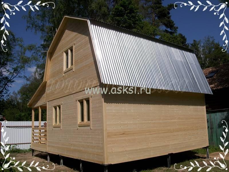 Фото каркасно-щитового дома ДД 6х6 Т