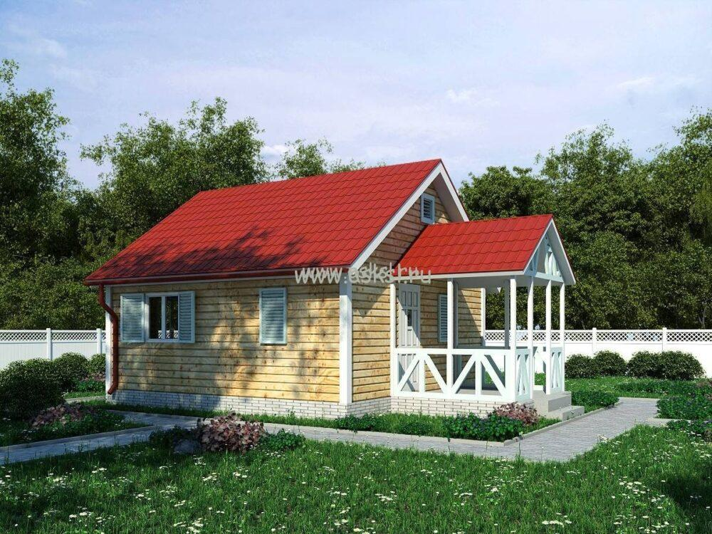 Фото каркасно-щитового дома ОД 6х6 БК