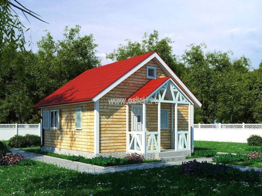 Фото каркасно-щитового дома ОД 6х6 К