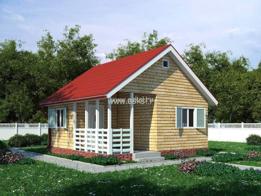 Фото каркасно-щитового дома ОД 6х6 Т