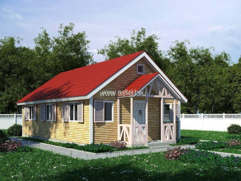 Фото каркасно-щитового дома ОД 6х9 К