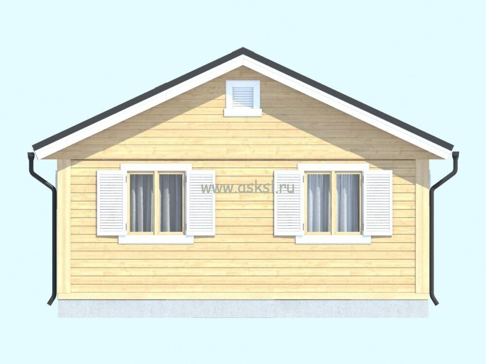 Каркасный дом ОДК 5х6 Т задний фасад