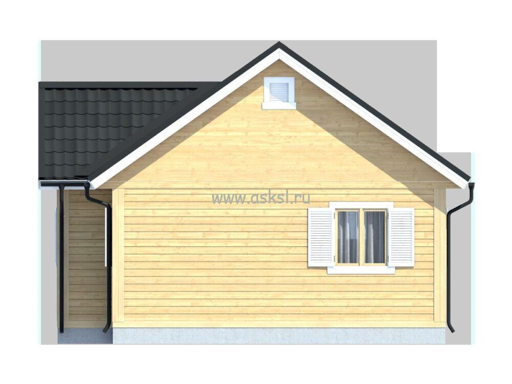 Каркасный дом ОДК 6х8 ТК фасад