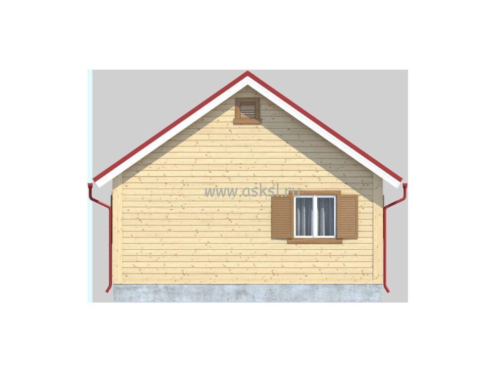 Каркасный дом ОДК 6х8 К фасад