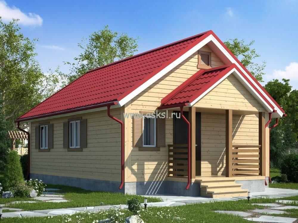 Каркасный дом ОДК 6х8 К