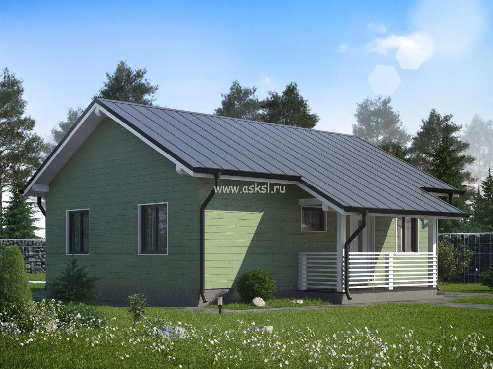 Фото-визуализация проекта каркасного дома 7х9