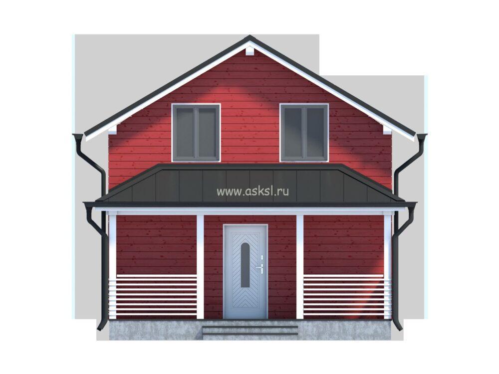 Фото каркасно-щитового дома ДД 6х7 1,5-Т