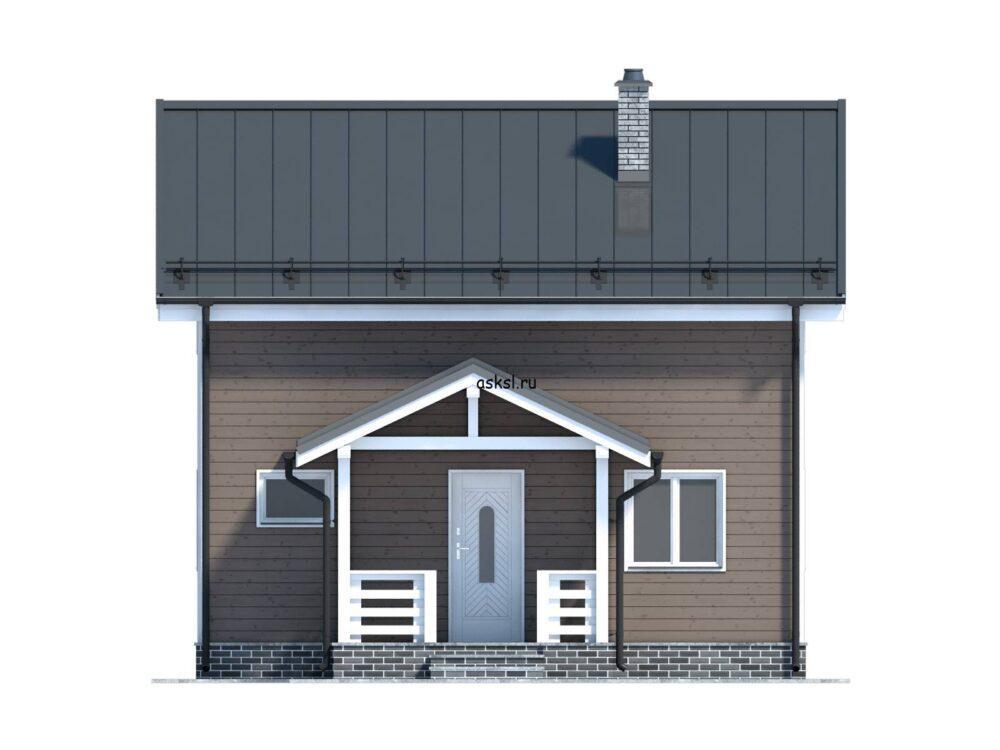 фото фасада каркасного дома