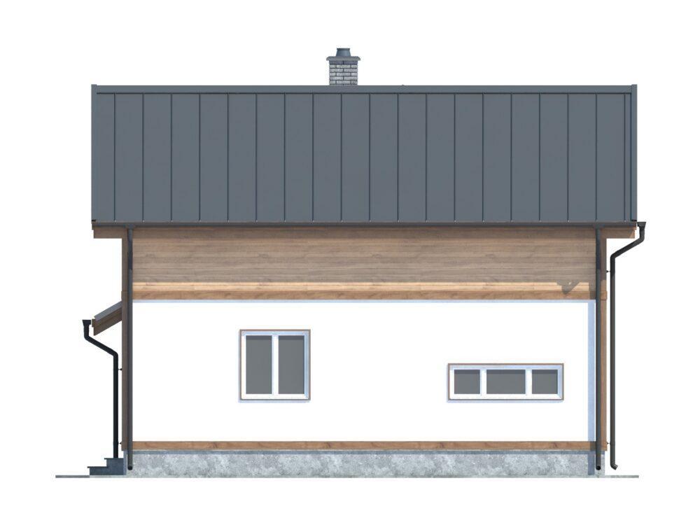 Фото фасада каркасного дома 8х11