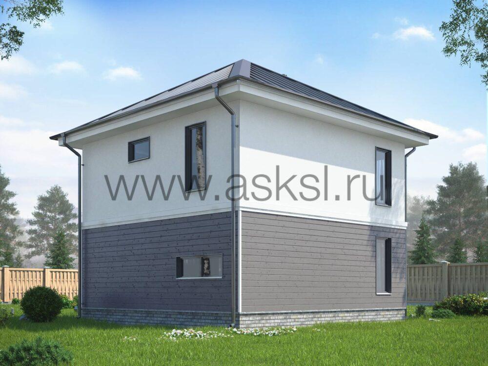 Каркасный дом ДДК 7х7 В