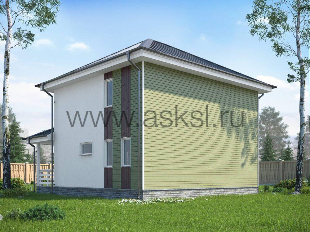 Каркасный дом ДДК 7х8 К