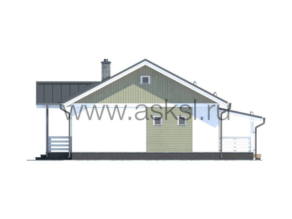 Визуализация каркасного дома ОДК 8,5х13,5