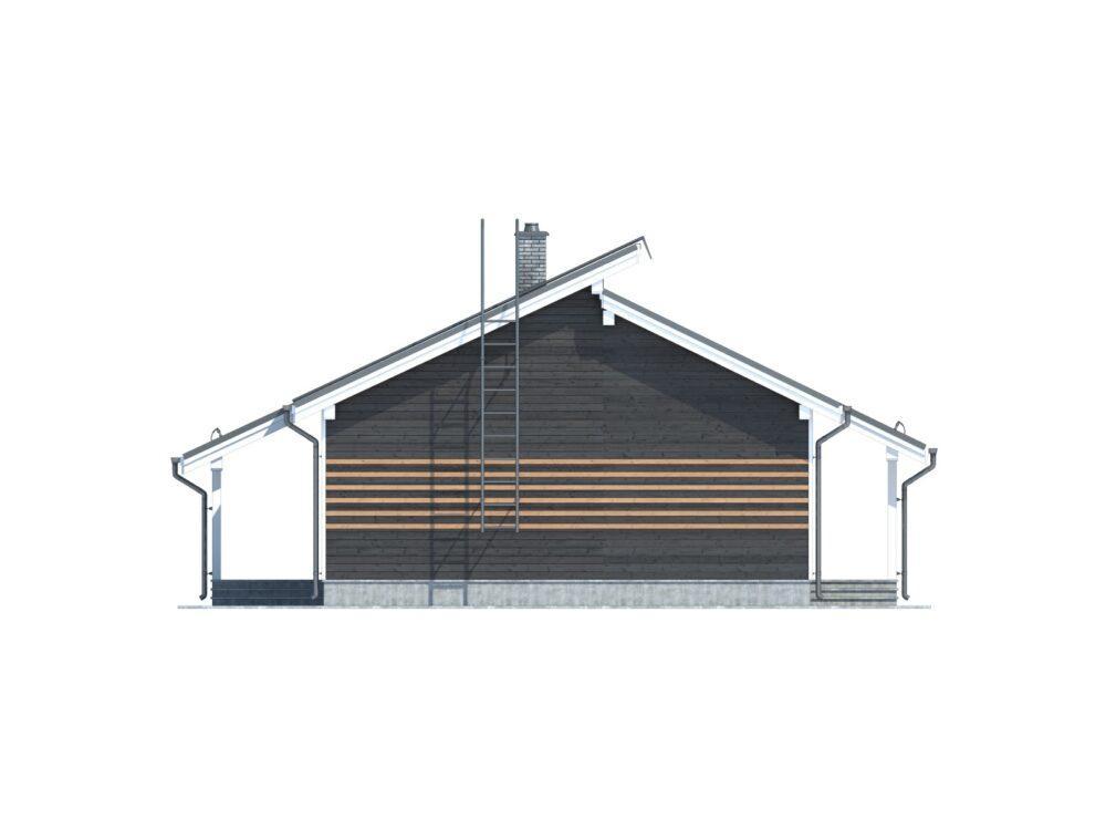 Фото-визуализация Каркасного дома постоянного проживания размером 8,5х15,0