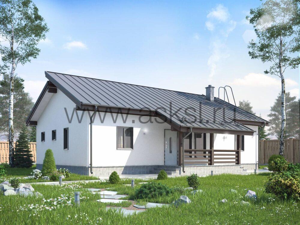 Фото каркасного дома финского проекта 8х14