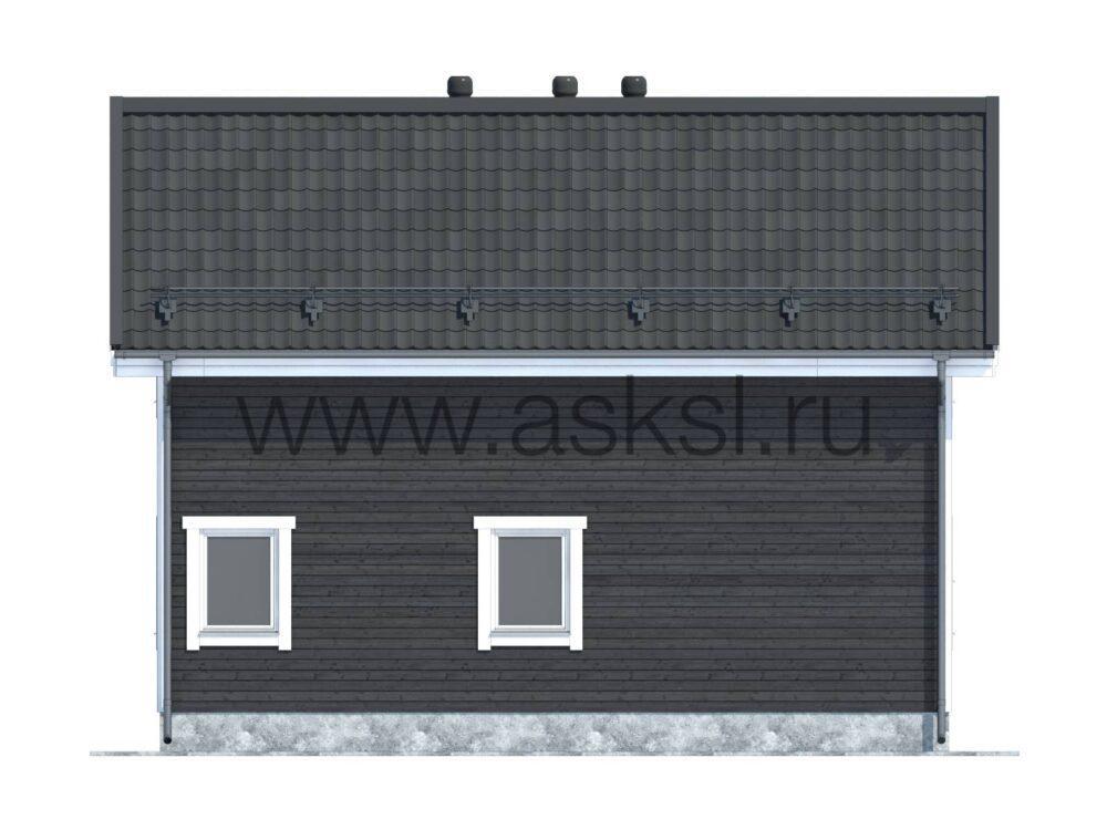 Фото фасада каркасного дома 7х9