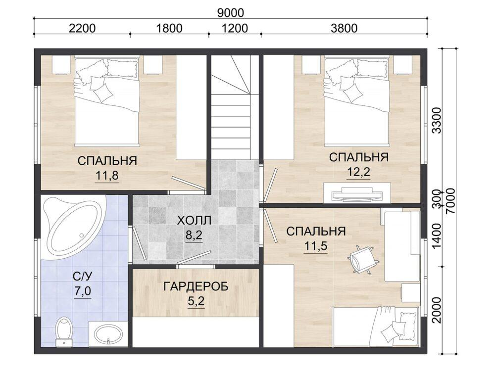 Фото планировки 2 этажа