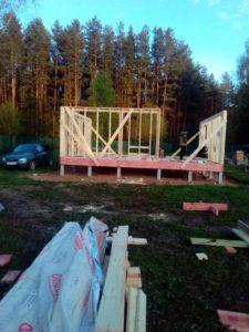 Каркасный дом 8х8 Вуокса для постоянного проживания Ярославская область деревня Итларь
